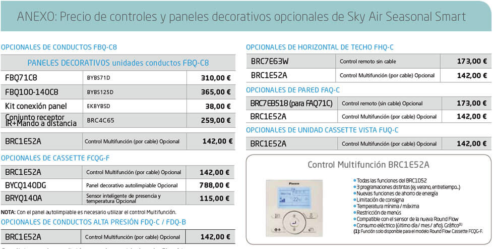 sky estacional smart anexo - Sky Air de Daikin