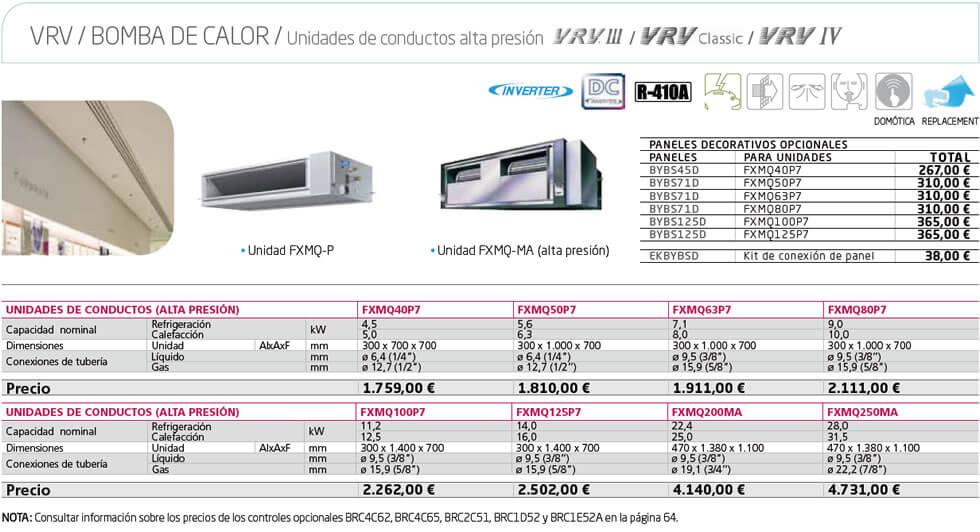 vrv conductos alta - VRV